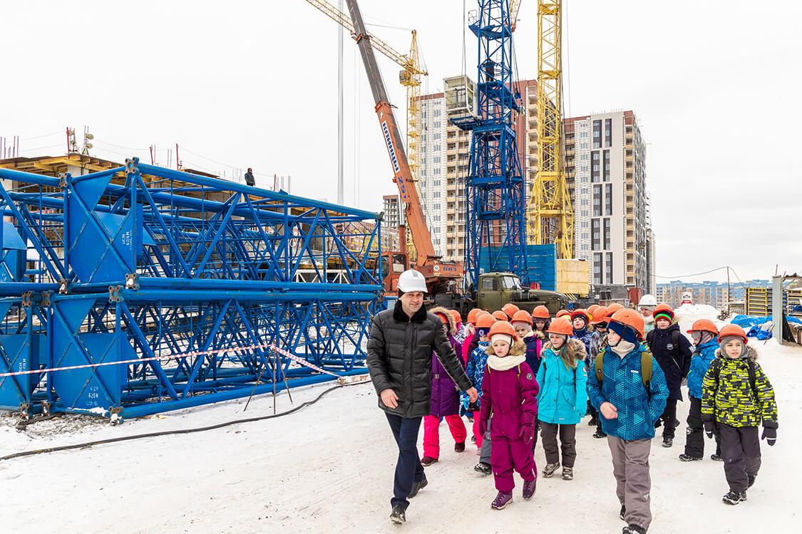 Экскурсия для будущих строителей (Строительная Фирма Проспект)